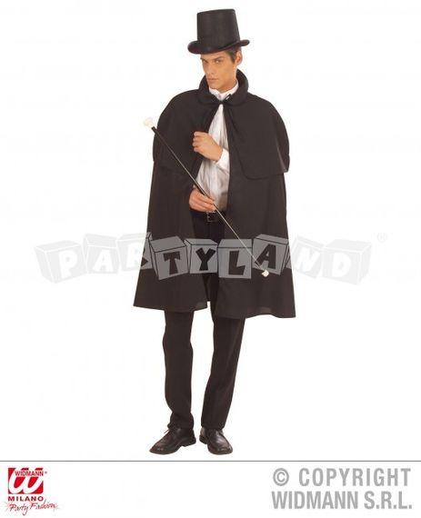 Čierny plášť s pelerínou