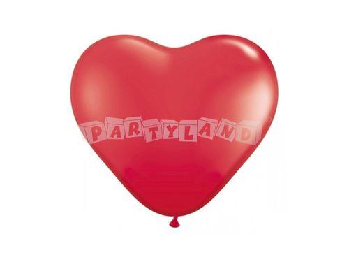 Balón srdce - červený 25cm