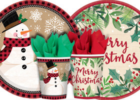 Vianočný párty riad
