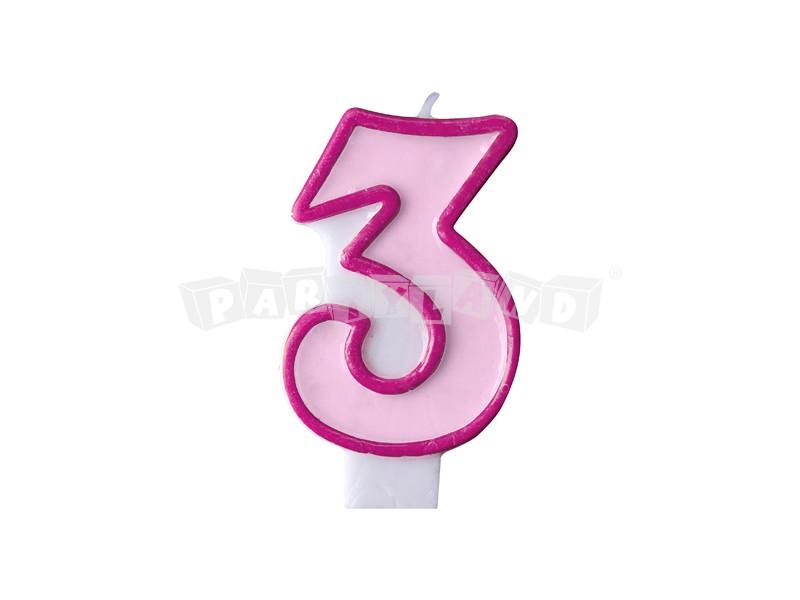 61eaaaf48 Partyland.sk - Narodeninová sviečka č.3 svetlo ružová