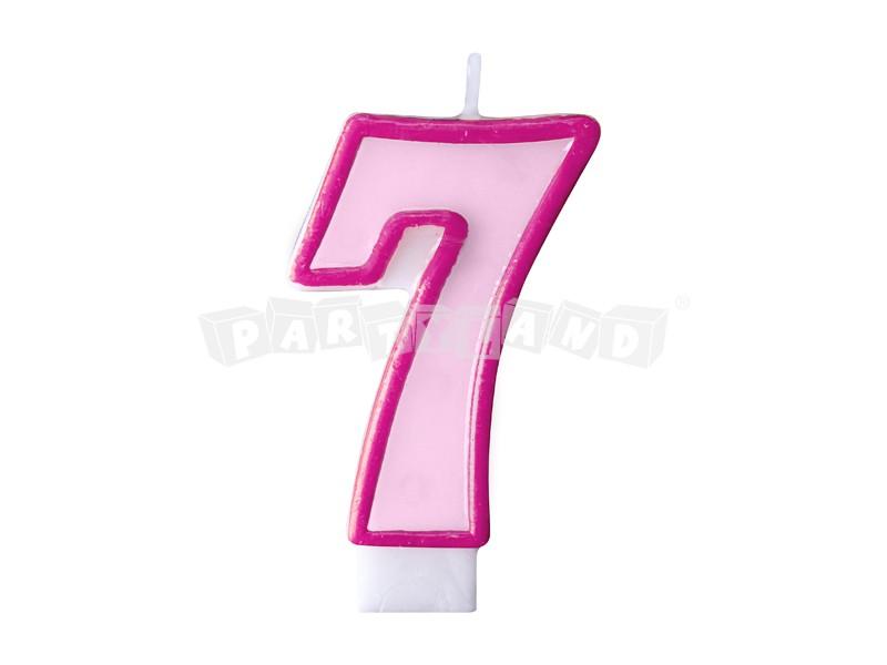 ce4e6a573 Partyland.sk - Narodeninová sviečka č.7 svetlo ružová