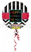 Fóliový balón hrajúci Happy birthday