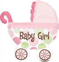 Fóliový balón kočík - Baby girl