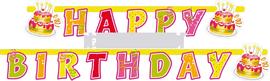 Girlanda Happy birthday torty