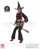 Kostým čarodejnica so svietiacim pavúkom