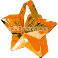 Závažie na balóny - oranžová hviezda