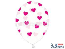 eb997ba66 Balón 30 cm, srdcia, ružové a červené