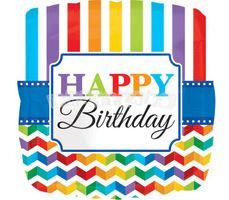Balón Happy Birthday farebný