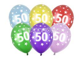 Balóny číslo 50 - 6ks