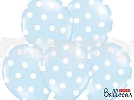 Balóny pastelové svetlomodré, balenie 6 ks