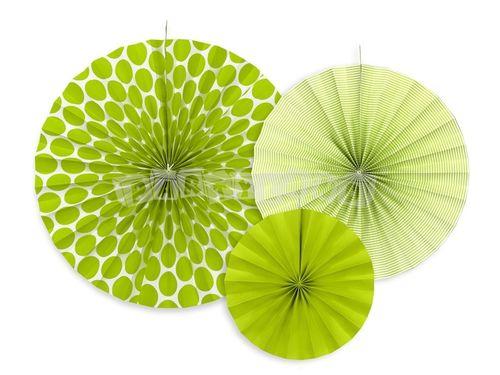 Dekoratívne rozety, zelene jablko