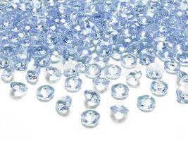 Diamantové konfety modré 12mm - 100 ks