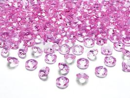 Diamantové konfety ružové 12mm - 100 ks