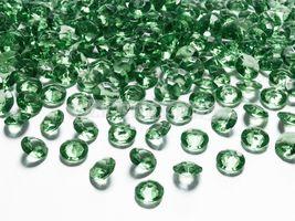 Diamantové konfety zelené 12mm - 100 ks
