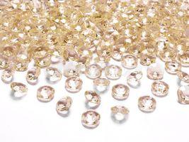 Diamantové konfety zlaté 12mm - 100 ks