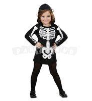 dievčenský kostým kostlivca