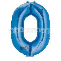 Fóliový balon 0 modrý 88 cm