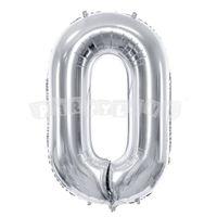 Fóliový balón 0 - Strieborný