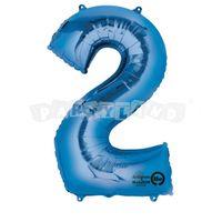 Fóliový balon 2 modrý 88 cm