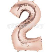 Fóliový balon 2 staroružový 88 cm