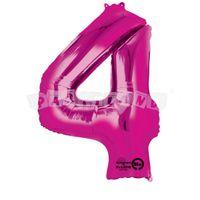 Fóliový balon 4 ružový 88 cm