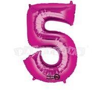 Fóliový balon 5 ružový 86 cm