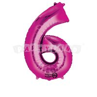 Fóliový balon 6 ružový 88 cm