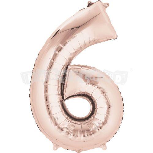 Fóliový balon 6 staroružový 88 cm