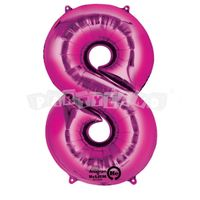 Fóliový balon 8 ružový 83 cm