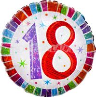 18. narodeniny 43 cm farebný fóliový balón