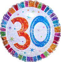 Foliový balón - Happy Birthday 30 Farebný