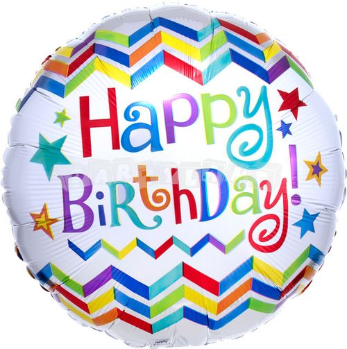 Happy Birthday 43 cm Fóliový balón
