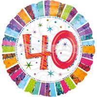 40. narodeniny 43 cm farebný fóliový balón