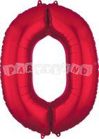 Fólový balon 0 červený 88 cm