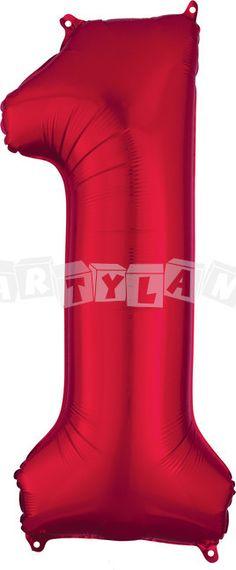 Fólový balon 1 červený 86 cm
