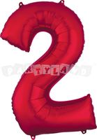 Fólový balon 2 červený 88 cm