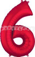 Fólový balon 6 červený 88 cm