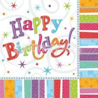 Servítky Happy Birthday 16 ks