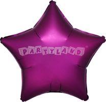 Hviezda ružová 43 cm saténový fóliový balón