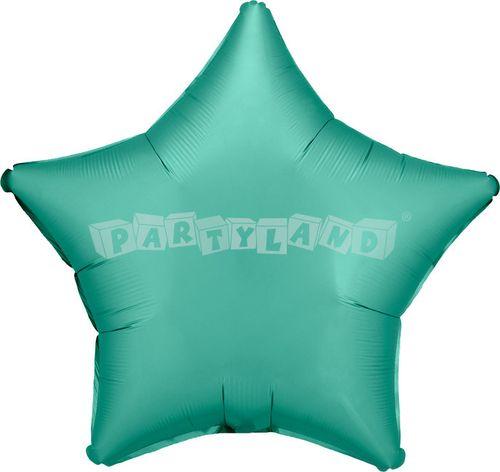 Hviezda tyrkysová 43 cm saténový fóliový balón