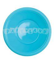 Karibsko modrá plastová miska 10 ks