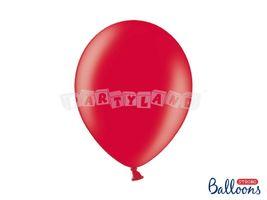 Metalický balón - červená