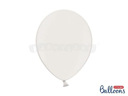 Metalický balón - čisto biely