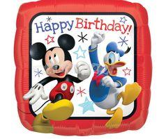 Mickey a priatelia Všetko najlepšie 43 cm, fóliový balón