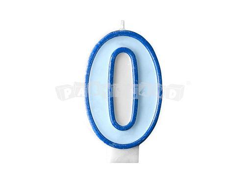 d64499843 Partyland.sk - Narodeninová sviečka č.0 modrá
