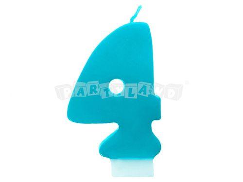 Narodeninová sviečka č.4 tyrkysová
