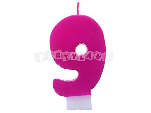 Narodeninová sviečka č.9 ružová