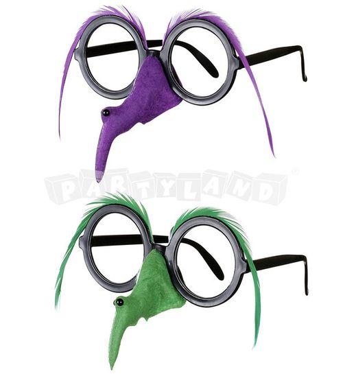 Okuliare s nosom čarodejnice