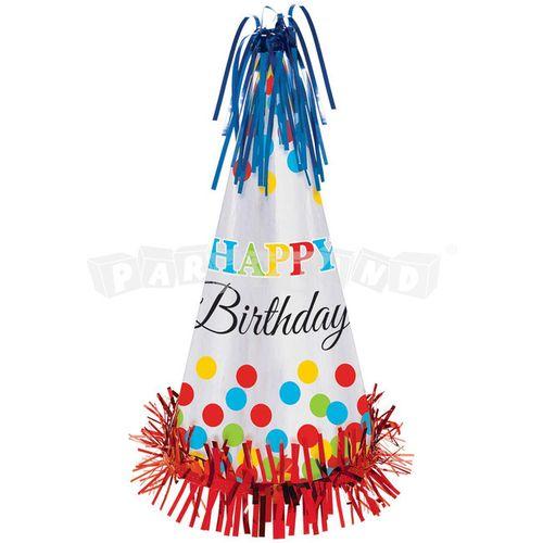 Párty čiapka Happy Birthday 1 ks