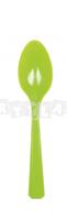 Zelené plastové lyžičky 10 ks